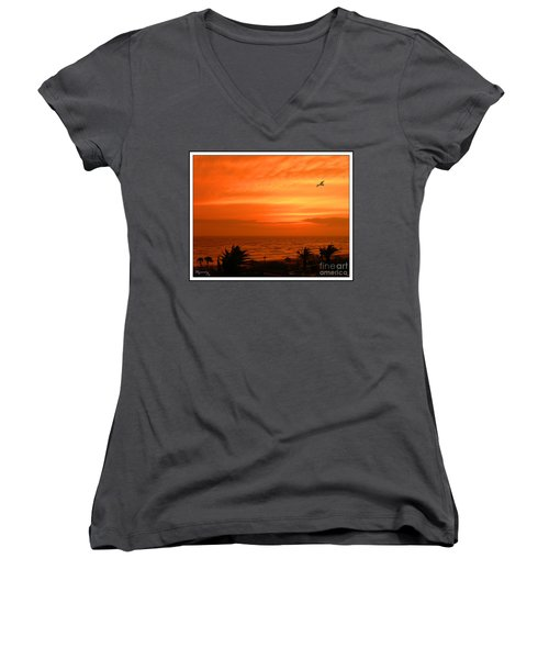 Ablaze Women's V-Neck T-Shirt