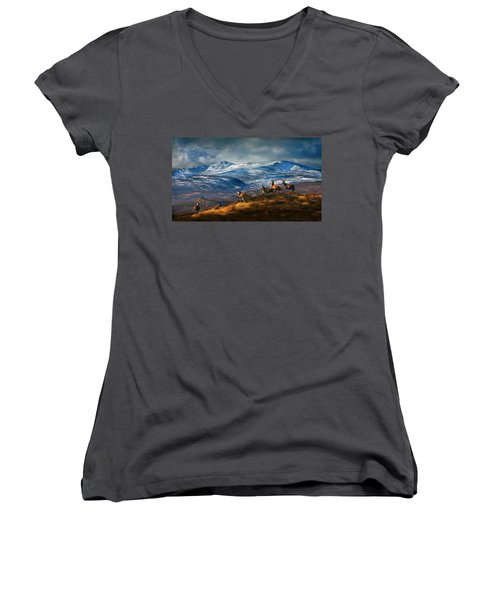 Above Strathglass Women's V-Neck