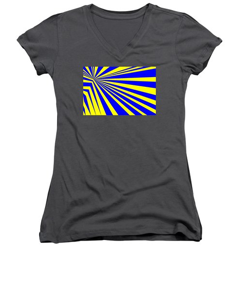 Abstract 150 Women's V-Neck (Athletic Fit)