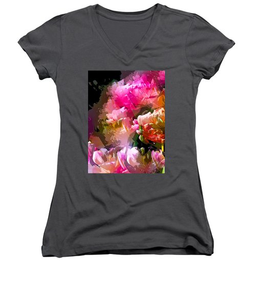 Abstract 272 Women's V-Neck (Athletic Fit)