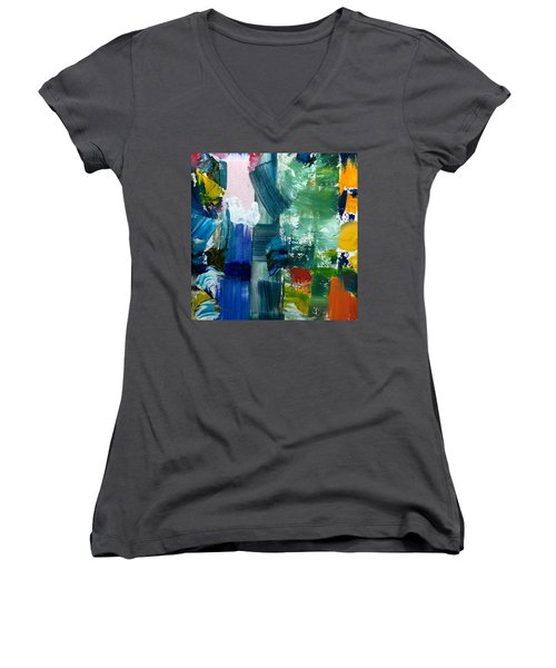 Abstract Color Relationships Lll Women's V-Neck