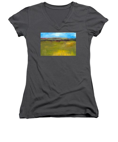 Abstract Landscape - The Highway Series Women's V-Neck (Athletic Fit)