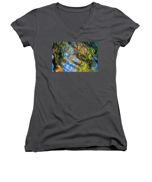 Abstract Of Nature Women's V-Neck