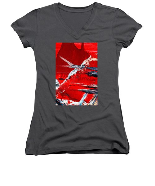 Abstract Original Artwork One Hundred Phoenixes Untitled Number Seven Women's V-Neck