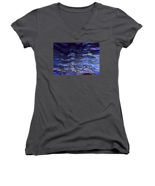 Abstract Reflections - Digital Art #2 Women's V-Neck