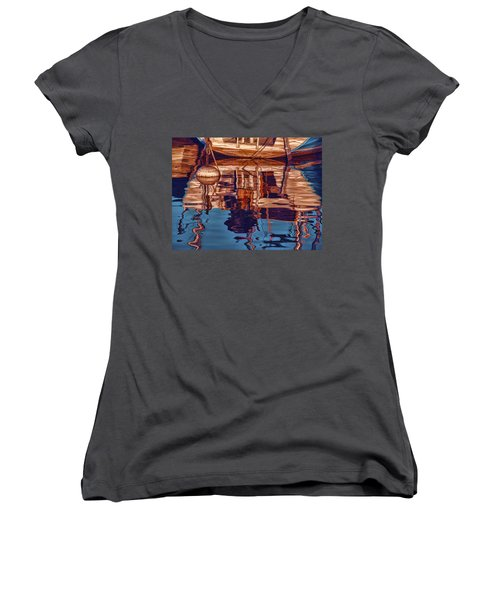 Abstract Reflections Women's V-Neck (Athletic Fit)
