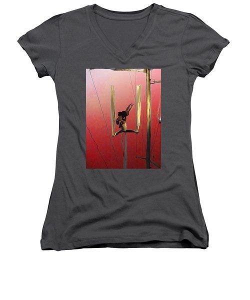 Acrobatic Aerial Artistry1 Women's V-Neck T-Shirt