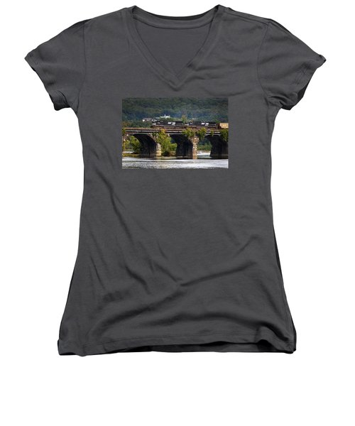 Across The Rockville Women's V-Neck T-Shirt