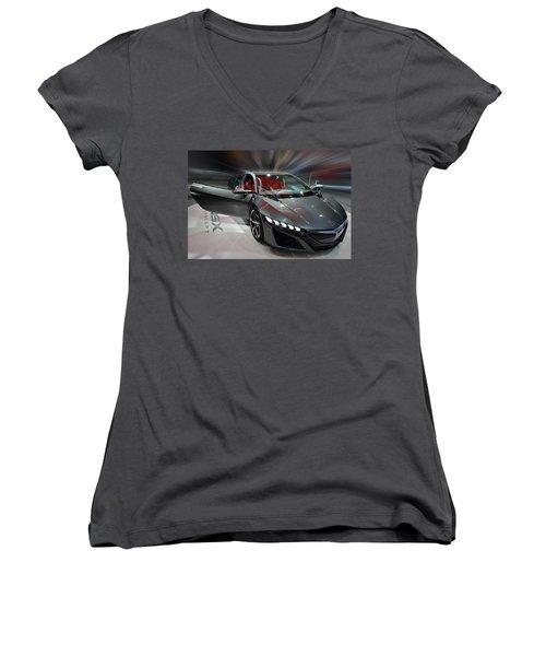 Acura Nsx Concept 2013 Women's V-Neck