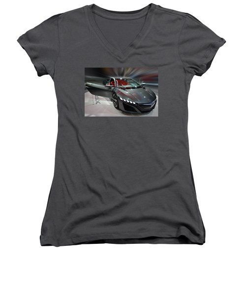 Acura Nsx Concept 2013 Women's V-Neck (Athletic Fit)