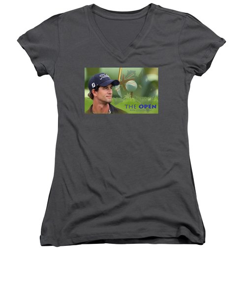 Adam Scott Women's V-Neck T-Shirt