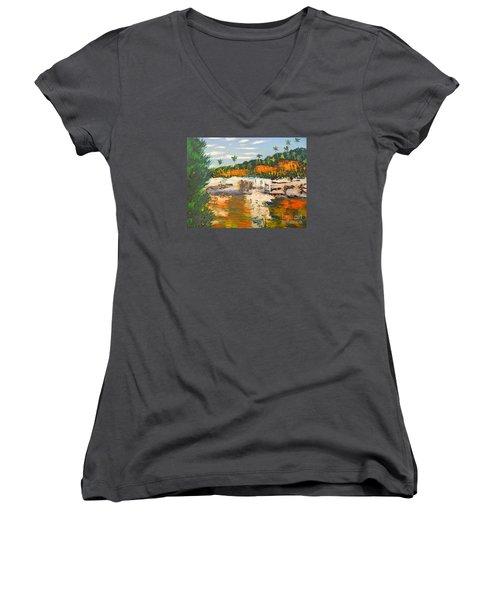 Adele Gorge At Lawn Hill National Park Women's V-Neck T-Shirt