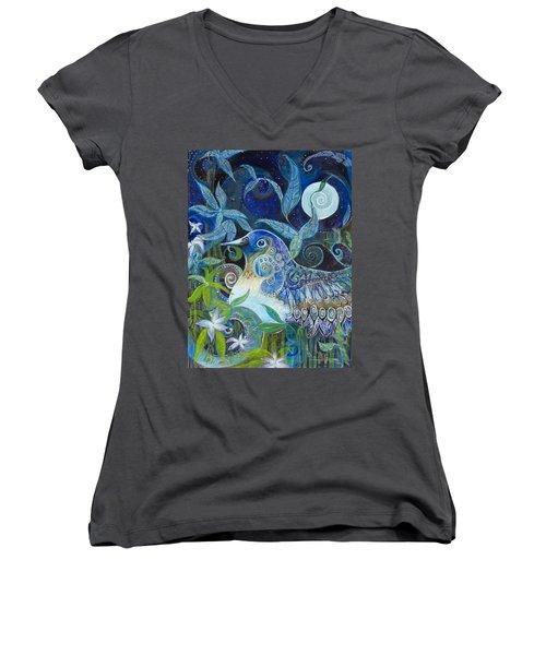 Admiration Women's V-Neck T-Shirt (Junior Cut) by Leela Payne