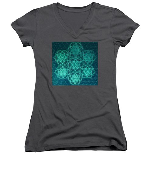 Adrift In Space Time Women's V-Neck T-Shirt