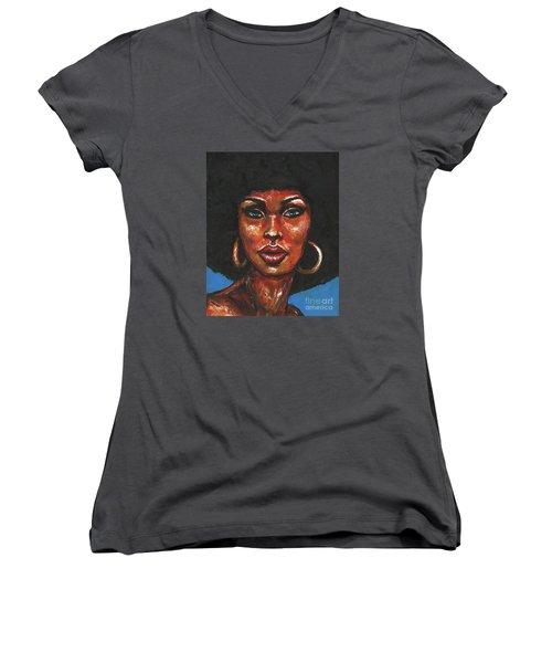 Well Hello Women's V-Neck T-Shirt (Junior Cut)