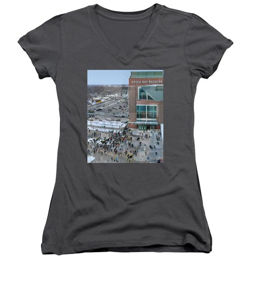 After A Winter Packers Game Women's V-Neck (Athletic Fit)