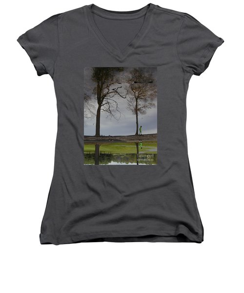 After Soccer By The Pond Women's V-Neck
