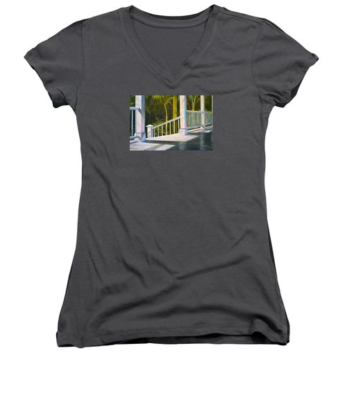 After The Rain Women's V-Neck T-Shirt (Junior Cut) by Alan Lakin
