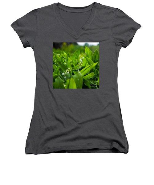 Women's V-Neck T-Shirt (Junior Cut) featuring the photograph After The Rain by Kennerth and Birgitta Kullman