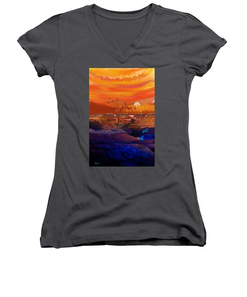 After The Storm Women's V-Neck T-Shirt (Junior Cut) by J Griff Griffin