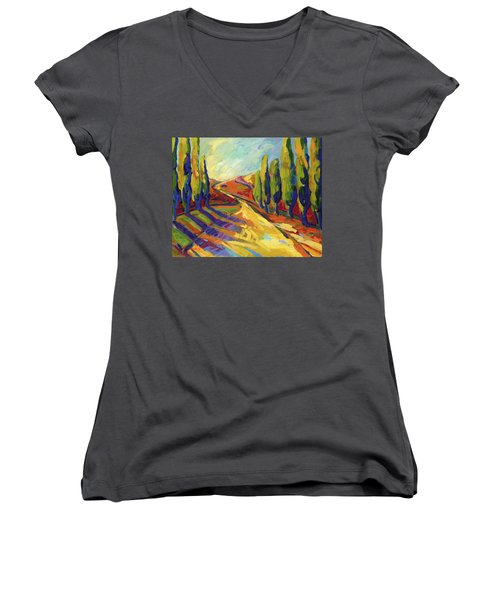 Afternoon Shadows Women's V-Neck (Athletic Fit)