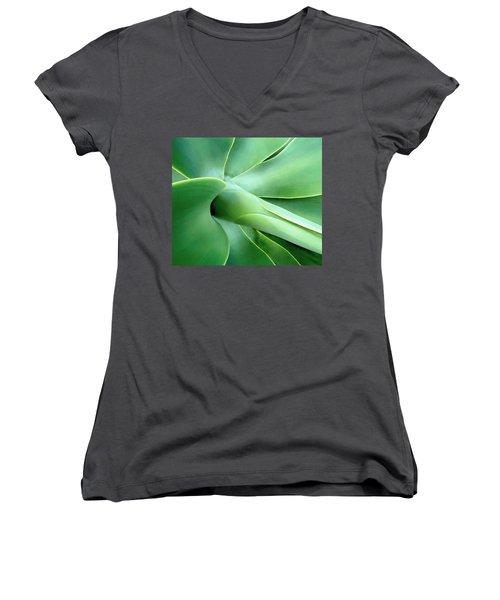 Agave Heart Women's V-Neck T-Shirt (Junior Cut) by Peter Mooyman