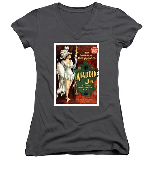 Aladdin Jr Amazon Women's V-Neck T-Shirt
