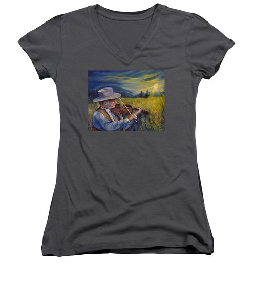 Alberta Lullaby Women's V-Neck T-Shirt