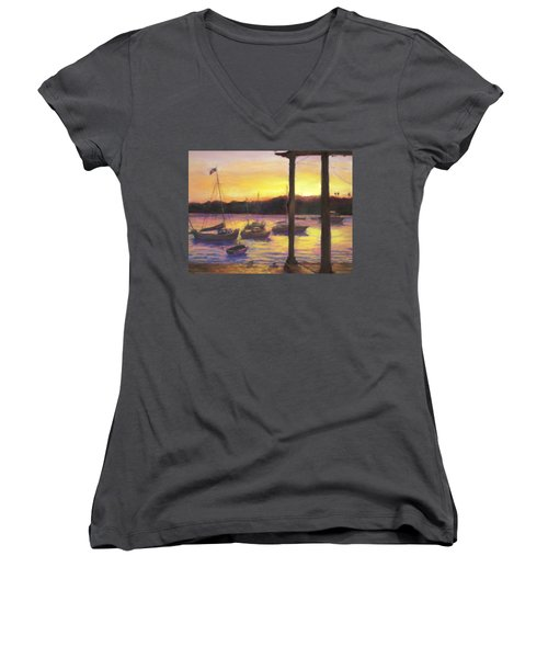 Algarve Sunset Women's V-Neck T-Shirt
