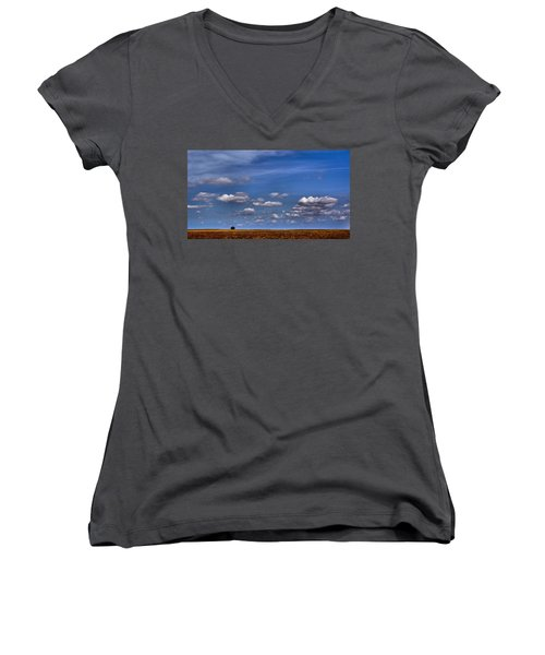 All By Myself Women's V-Neck T-Shirt