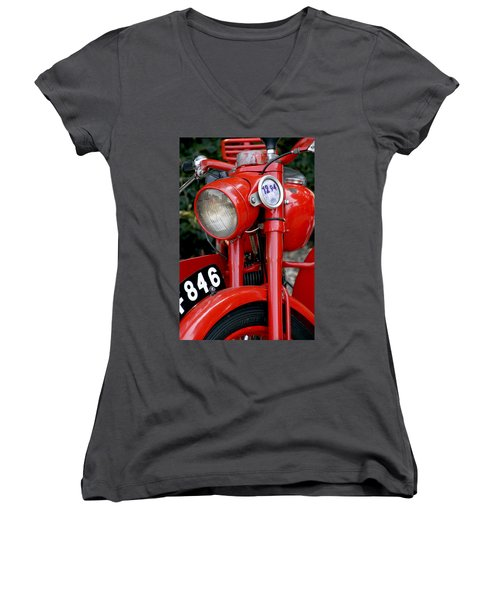 All Original English Motorcycle Women's V-Neck
