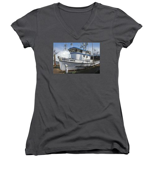 All Painted And Ready To Fish Women's V-Neck T-Shirt (Junior Cut) by Tom Janca