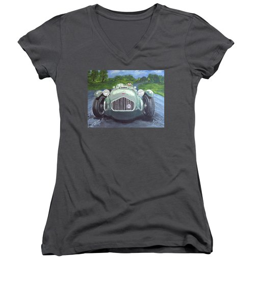 Allard J2x Women's V-Neck T-Shirt (Junior Cut) by Anna Ruzsan