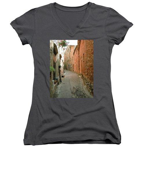 Alley In Tourrette-sur-loup Women's V-Neck (Athletic Fit)