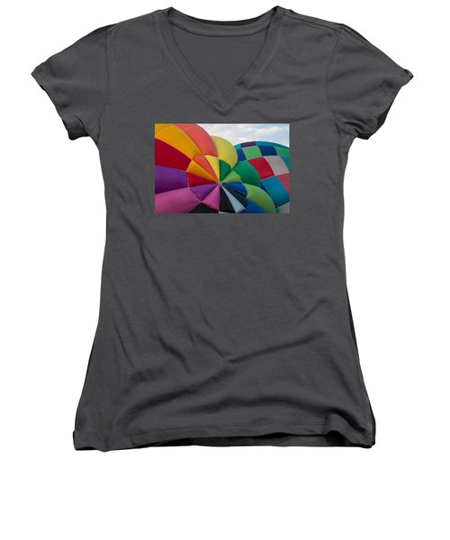 Almost Ready Women's V-Neck T-Shirt (Junior Cut) by Patrice Zinck