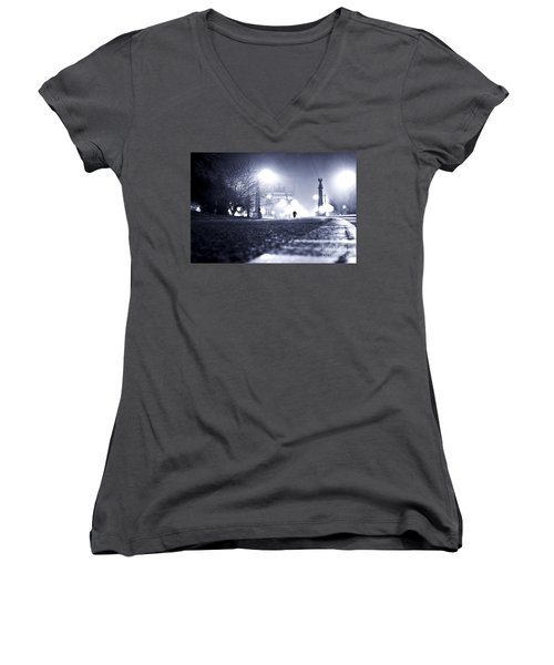 Alone Brooklyn Nyc Usa Women's V-Neck (Athletic Fit)