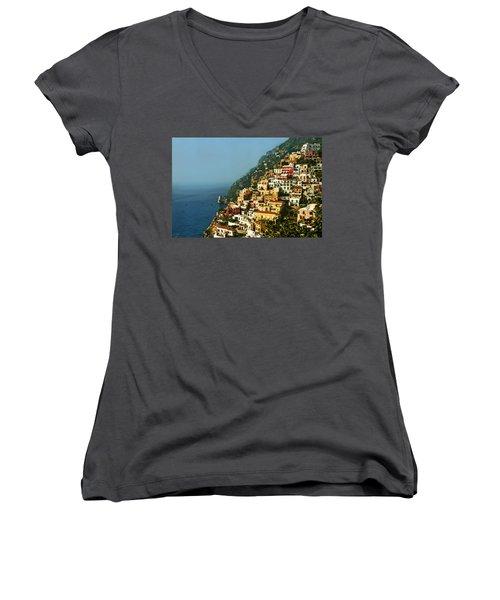 Amalfi Coast Hillside II Women's V-Neck T-Shirt