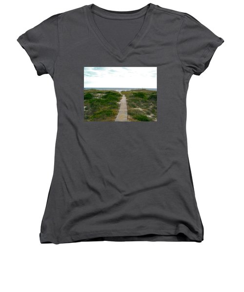 Amelia Island Beach Women's V-Neck T-Shirt