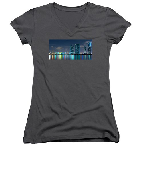 American Airlines Arena And Condominiums Women's V-Neck (Athletic Fit)