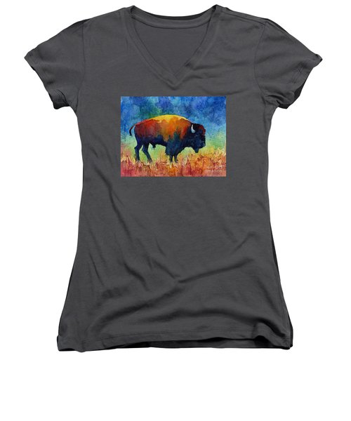 American Buffalo II Women's V-Neck
