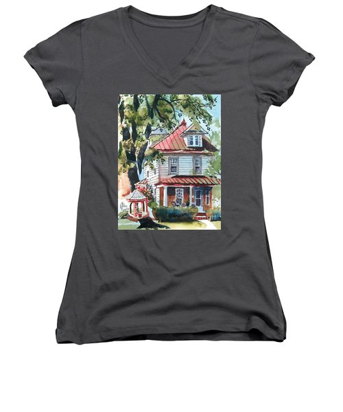 American Home With Children's Gazebo Women's V-Neck (Athletic Fit)