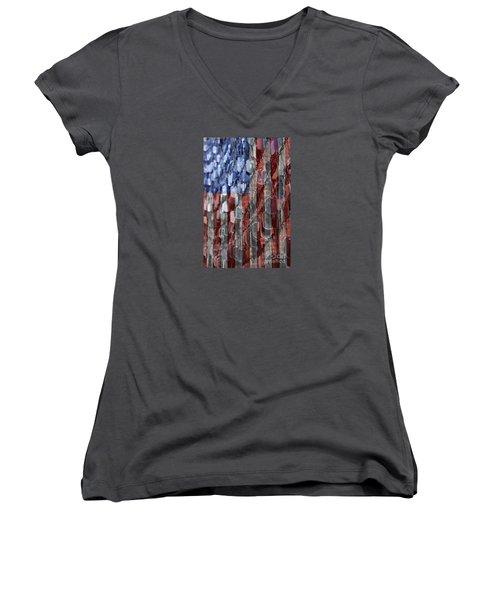 American Sacrifice Women's V-Neck T-Shirt (Junior Cut) by DJ Florek