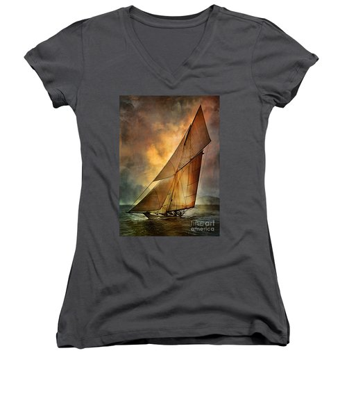 America's Cup  Women's V-Neck (Athletic Fit)