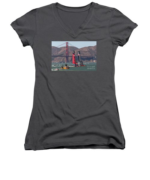 Americas Cup At The Gate Women's V-Neck