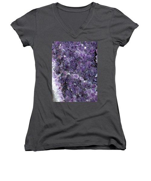 Amethyst Geode II Women's V-Neck