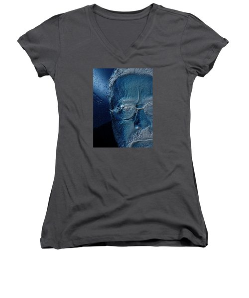 Amiblue Women's V-Neck T-Shirt (Junior Cut) by Jeff Iverson