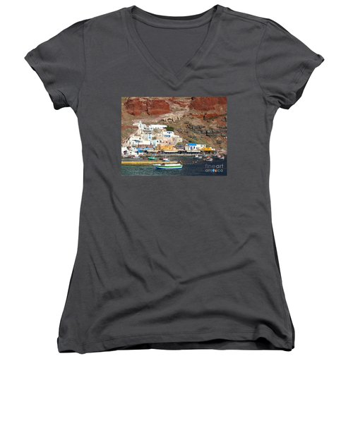Amoudi Bay Women's V-Neck T-Shirt (Junior Cut) by Suzanne Oesterling