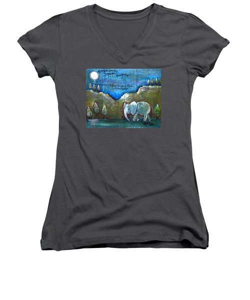 An Elephant For You Women's V-Neck