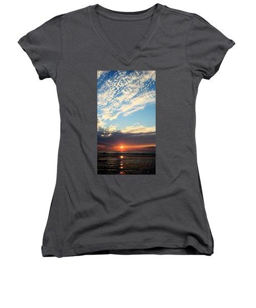 An Ocean And A Sunrise Women's V-Neck