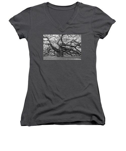 Angel Oak Tree Women's V-Neck